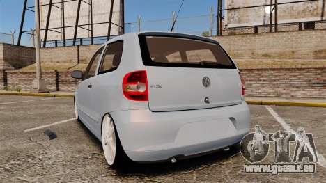 Volkswagen Fox pour GTA 4 Vue arrière de la gauche