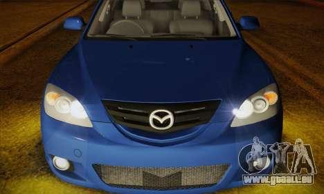 Mazda Axela Sport 2005 pour GTA San Andreas vue arrière