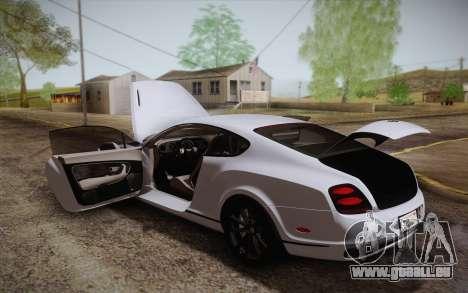 Bentley Continental SuperSports 2010 v2 Finale pour GTA San Andreas moteur
