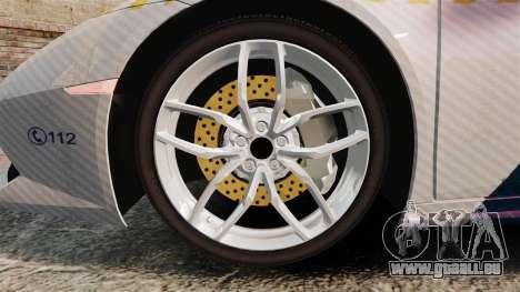 Lamborghini Huracan Hungarian Police [Non-ELS] pour GTA 4 Vue arrière