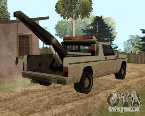 Neue Schlepptau (Sadler) für GTA San Andreas zurück linke Ansicht