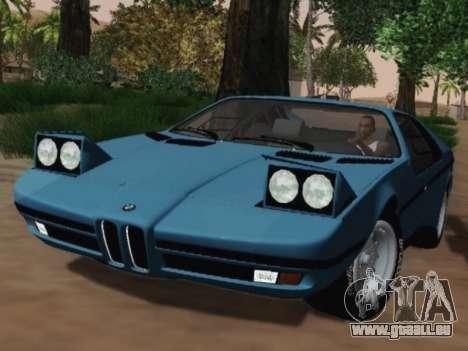 BMW M1 Turbo 1972 pour GTA San Andreas