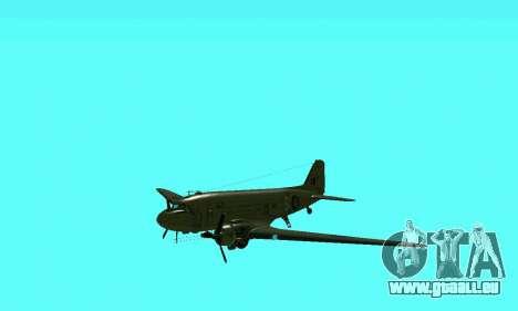C-47 Dakota RAF für GTA San Andreas Innenansicht