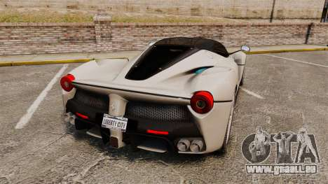 Ferrari LaFerrari pour GTA 4 Vue arrière de la gauche