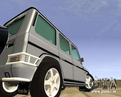 Mercedes-Benz G500 Brabus pour GTA San Andreas laissé vue