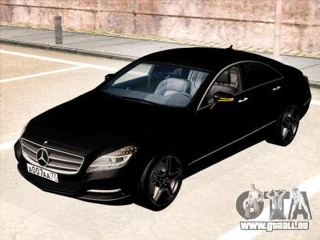 Mercedes-Benz CLS350 2012 pour GTA San Andreas sur la vue arrière gauche