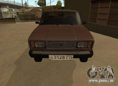 VAZ 2107 Frühen version für GTA San Andreas linke Ansicht