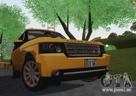 Range Rover Supercharged Series III pour GTA San Andreas laissé vue