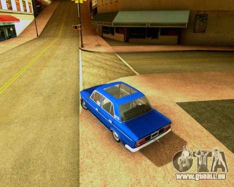 VAZ 2103 Accordables pour GTA San Andreas sur la vue arrière gauche