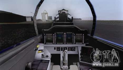 F-15S pour GTA San Andreas vue de dessous