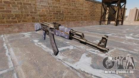 L'AK-47 Bleu Camo pour GTA 4
