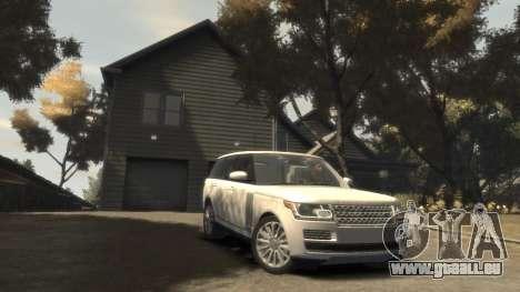 Range Rover Vogue 2014 pour GTA 4 Vue arrière