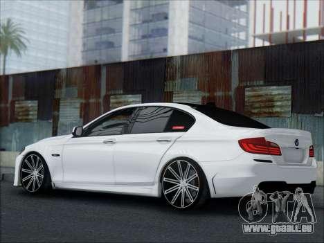 BMW 550 F10 VOSSEN pour GTA San Andreas vue de dessus