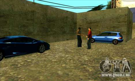 Service de voiture du centre de Sijia à Las Vent pour GTA San Andreas troisième écran