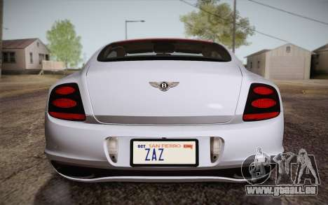 Bentley Continental SuperSports 2010 v2 Finale pour GTA San Andreas vue de dessus