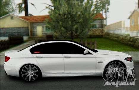 BMW 550 F10 VOSSEN pour GTA San Andreas vue intérieure