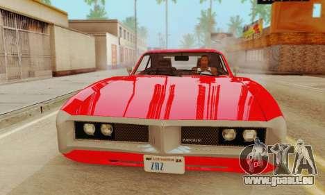 GTA 4 Imponte Dukes V1.0 pour GTA San Andreas sur la vue arrière gauche