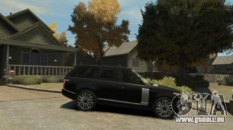 Range Rover Vogue 2014 pour GTA 4 est une gauche