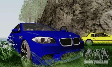 BMW F10 M5 2012 Stock pour GTA San Andreas vue de côté