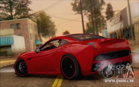 Ferrari California v2 pour GTA San Andreas sur la vue arrière gauche