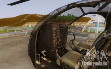 MH-6 Little Bird für GTA San Andreas rechten Ansicht