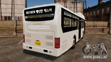 Daewoo BS110CN pour GTA 4 Vue arrière de la gauche
