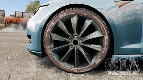 Tesla Model S pour GTA 4 Vue arrière