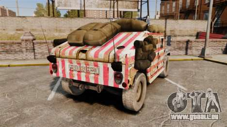HMMWV M1114 Freedom pour GTA 4 Vue arrière de la gauche