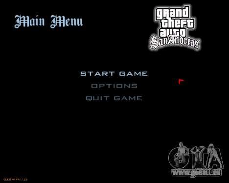 Nouveau menu d'image pour GTA San Andreas deuxième écran