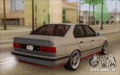 BMW M5 E34 1995 pour GTA San Andreas laissé vue