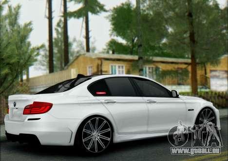 BMW 550 F10 VOSSEN pour GTA San Andreas sur la vue arrière gauche