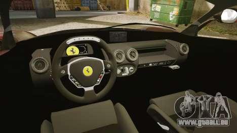 Ferrari LaFerrari pour GTA 4 est une vue de l'intérieur
