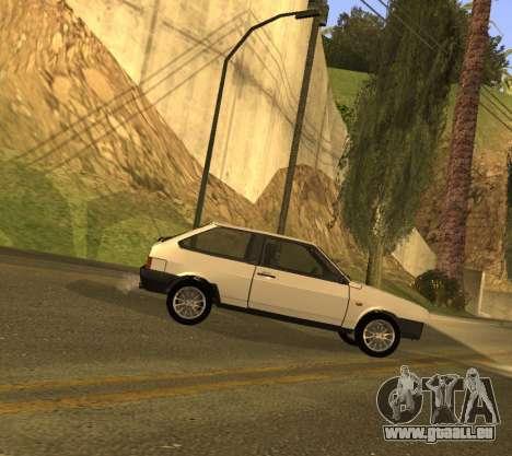 ВАЗ 2108 GVR Version 1.2 pour GTA San Andreas sur la vue arrière gauche