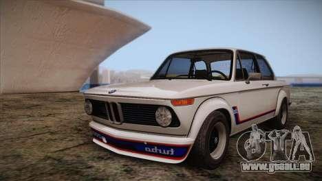 BMW 2002 1973 pour GTA San Andreas vue de dessus