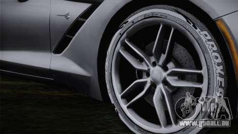 Chevrolet Corvette C7 pour GTA San Andreas sur la vue arrière gauche