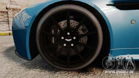 Aston Martin V12 Vantage S 2013 [Updated] pour GTA 4 Vue arrière