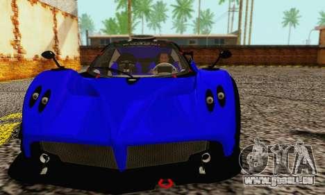 Pagani Zonda Type R Blue pour GTA San Andreas laissé vue