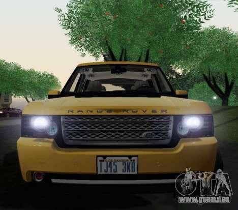 Range Rover Supercharged Series III für GTA San Andreas Rückansicht