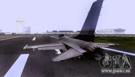 F-16 A für GTA San Andreas Innenansicht