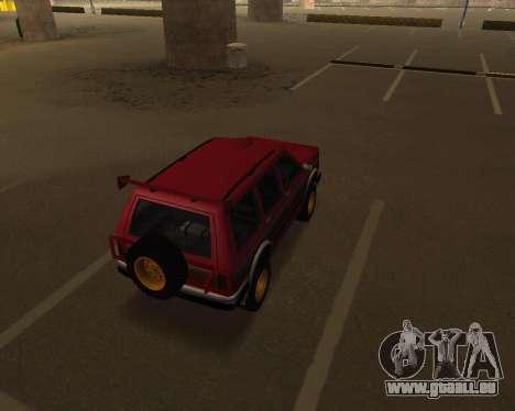 Landstalker V2 pour GTA San Andreas vue de droite