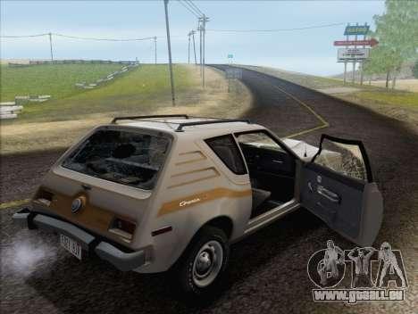 AMC Gremlin X 1973 pour GTA San Andreas vue de dessous
