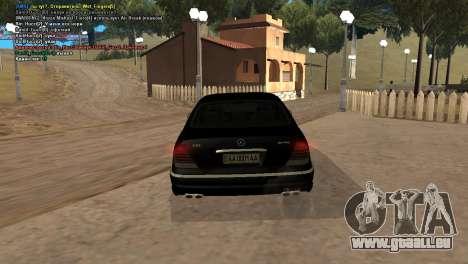 Mercedes-Benz S65 AMG pour GTA San Andreas vue de droite