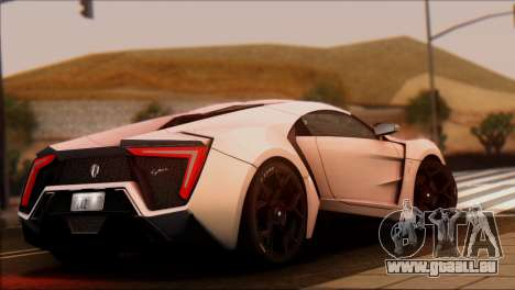 W Motors Lykan Hypersport 2013 für GTA San Andreas linke Ansicht