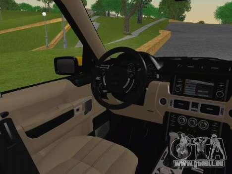 Range Rover Supercharged Series III pour GTA San Andreas vue de dessous