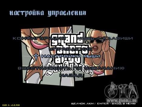 HD menus V.2.0 pour GTA San Andreas sixième écran