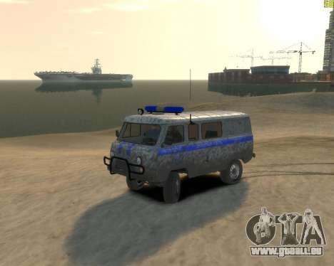 UAZ 39099 für GTA 4 hinten links Ansicht