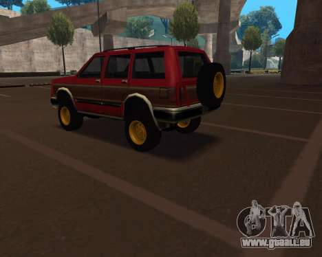 Landstalker V2 pour GTA San Andreas laissé vue