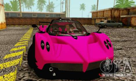 Pagani Zonda Type R Pink pour GTA San Andreas laissé vue