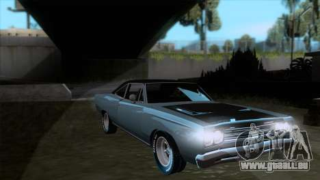 Plymouth Road RunneR 1969 pour GTA San Andreas vue arrière