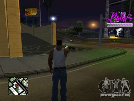 New HUD Ballas Style für GTA San Andreas